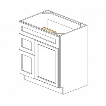 S3021DL Thompson White Vanity Combo Cabinet