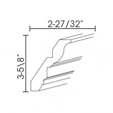CM96-4 Pearl Crown Molding Solid
