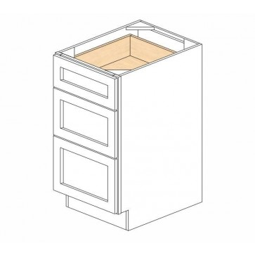 DB18(3) Mocha Shaker Drawer Base Cabinet (RTA)