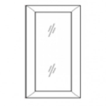 WDC2442GD Mocha Shaker Wall Glass Door (RTA)