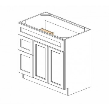 S3621BDL Thompson White Vanity Combo Cabinet (RTA)