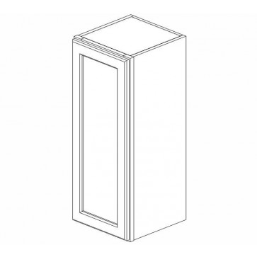 W1242 Gramercy Midnight Wall Single Door Cabinet (RTA)
