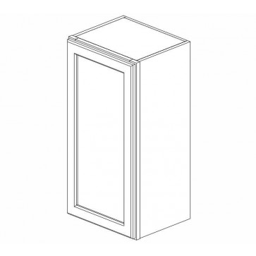 W1542 Ice White Shaker Wall Single Door Cabinet