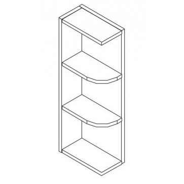WES530 Gramercy White Wall End Shelf