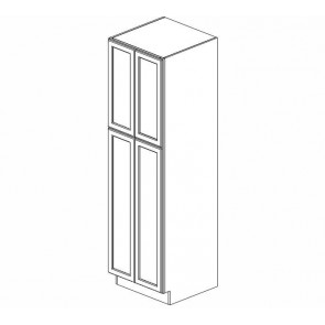 WP2496B Thompson White Tall Pantry Cabinet (RTA)