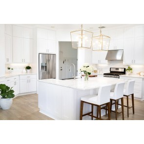Frameless RTA Simply White 10x10 Kitchen Cabinets