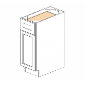B12 Ice White Shaker Single Door Cabinet (RTA)