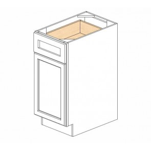 B15 Ice White Shaker Single Door Cabinet (RTA)