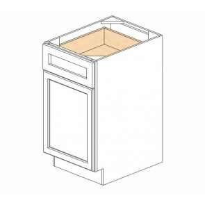 B18 Ice White Shaker Single Door Cabinet (RTA)