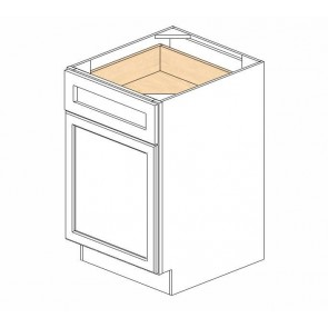 B21 Ice White Shaker Single Door Cabinet (RTA)