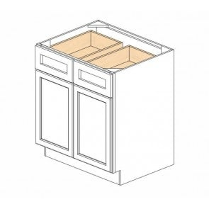 B30B Ice White Shaker Double Door Cabinet (RTA)