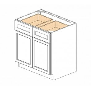 B33B Ice White Shaker Double Door Cabinet (RTA)