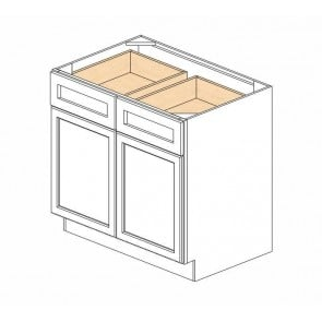 B36B Ice White Shaker Double Door Cabinet (RTA)