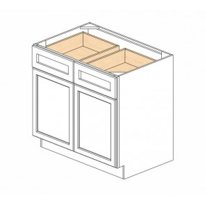 B36B Carolina Oak Base Double Door Cabinet (RTA)