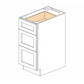 DB12(3) Mocha Shaker Drawer Base Cabinet (RTA)