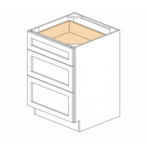 DB24(3) Cherry Glaze Drawer Base Cabinet (RTA)