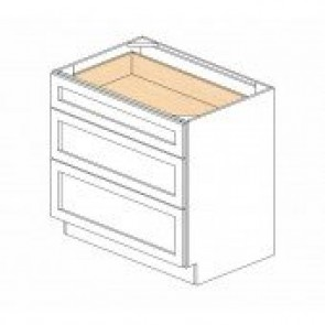 DB30(3) Cherry Glaze Drawer Base Cabinet (RTA)