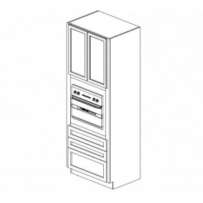 OC3390B Thompson White Tall Oven Cabinet (RTA)