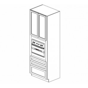 OC3396B Thompson White Tall Oven Cabinet (RTA)