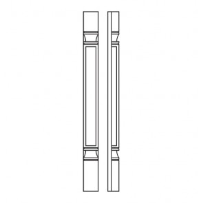 POLE75-B3X3 Thompson White Decor Leg