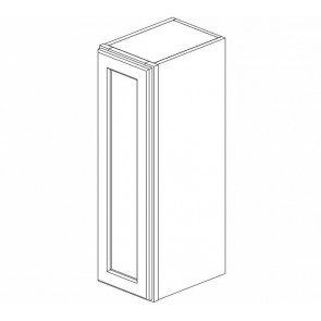 W0936 Cinnamon Glaze Wall Single Door Cabinet
