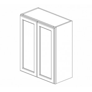 W2442B Ice White Shaker Wall Double Door Cabinet