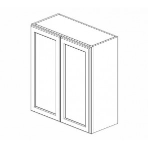 W2736B Ice White Shaker Wall Double Door Cabinet