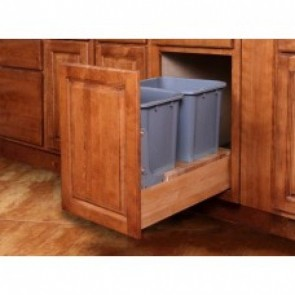 WBS18-CAO Double Pull-Out Waste Basket
