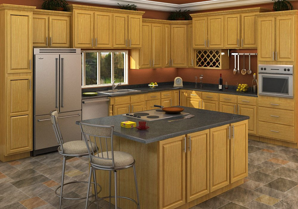 Buy carolina oak rta ready to assemble kitchen cabinets for Cabinetry kitchen cabinets