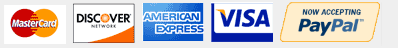 Kitchen Cabinet Kings Accepts MasterCard, Discover, American Express, Visa, and PayPal