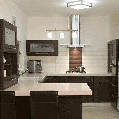 G Shaped Kitchen