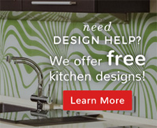 Need design help? We offer free kitchen designs!