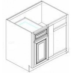 BBLC45/48-42W Thompson White Base Blind Corner Cabinet