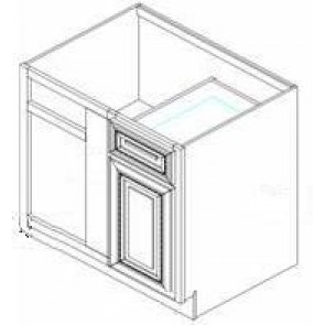 BBRC39/42-36W Thompson White Base Blind Corner Cabinet
