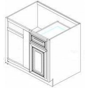 BBRC45/48-42W Thompson White Base Blind Corner Cabinet
