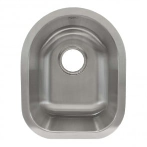 LCL104 Undermount Stainless Steel Single Bowl Bar or Prep Sink