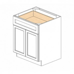 B30B Ice White Shaker Double Door Cabinet (RTA) - NOTE: May Have 1 or 2 Drawers