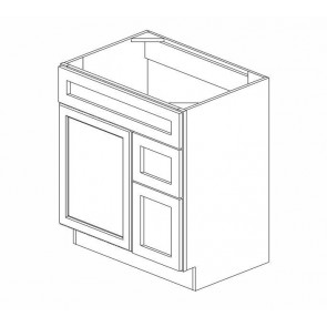 S3021DR Graystone Shaker Vanity Combo Cabinet