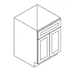 SB24 Thompson White Sink Base Cabinet (RTA)
