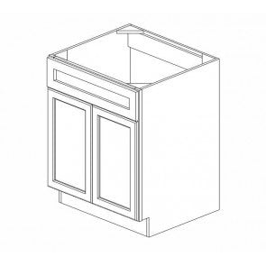 SB27B Thompson White Sink Base Cabinet (RTA)