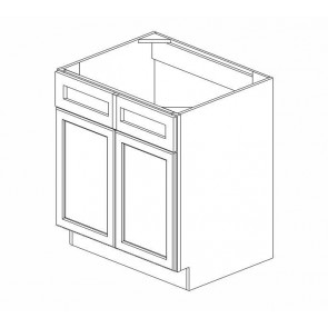 SB30B Thompson White Sink Base Cabinet (RTA)