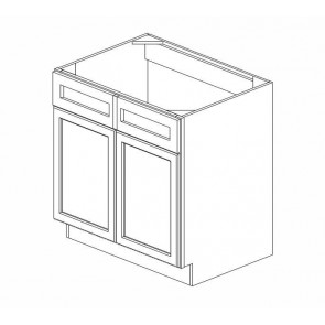 SB36B Thompson White Sink Base Cabinet (RTA)