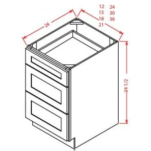 3DB12 Tahoe Light Gray Drawer Base Cabinet (RTA)