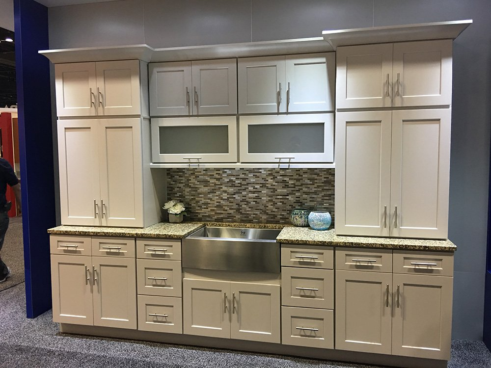 Buy Shaker Light Gray RTA Ready To Assemble Kitchen Cabinets Online - Light gray shaker kitchen cabinets