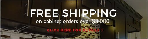 Free shipping on cabinet orders over $3,000!